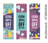 set of sale banners promotion... | Shutterstock .eps vector #473843446