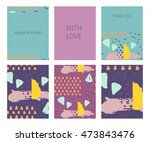 collection of happy birthday ...   Shutterstock .eps vector #473843476