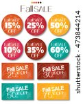 fall sale tag set vector no... | Shutterstock .eps vector #473844214
