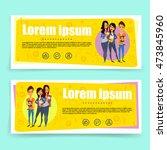 bright banner for students... | Shutterstock .eps vector #473845960