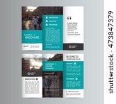 geometric trifold business...   Shutterstock .eps vector #473847379