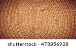 Texture Of Painted Straw Hat...