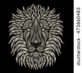 abstract vector lion of patterns | Shutterstock .eps vector #473860483