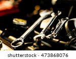 mechanic hand checking and... | Shutterstock . vector #473868076