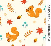 autumn seamless pattern with... | Shutterstock .eps vector #473872510