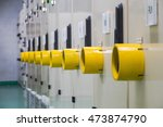 yellow guard of switch control... | Shutterstock . vector #473874790