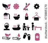 spa icon set | Shutterstock .eps vector #473885170