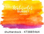 abstract watercolor yellow ... | Shutterstock .eps vector #473885464