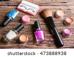 group of bright nail polishes ... | Shutterstock . vector #473888938
