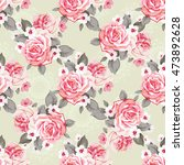 seamless floral pattern with... | Shutterstock .eps vector #473892628