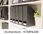 black stationery office folder... | Shutterstock . vector #473896180