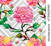 watercolor seamless pattern .... | Shutterstock . vector #473905990