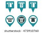 atm map marker vector icons.... | Shutterstock .eps vector #473910760