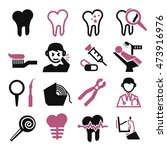 tooth icon set | Shutterstock .eps vector #473916976