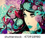 decorative colorful snowflakes  ... | Shutterstock . vector #473918980