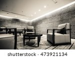 luxury lounge bar interior | Shutterstock . vector #473921134