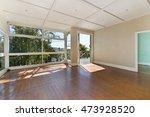empty room  with huge windows... | Shutterstock . vector #473928520
