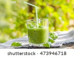 fresh mousse with cucumber ... | Shutterstock . vector #473946718