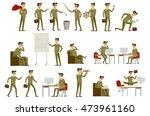set character businessman in...   Shutterstock . vector #473961160