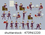 young cartoon businessman in... | Shutterstock . vector #473961220