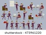 young cartoon businessman in... | Shutterstock . vector #473961220