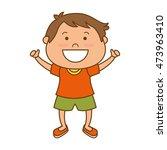 boy little smiling kid child... | Shutterstock .eps vector #473963410