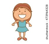 little girl smiling smile... | Shutterstock .eps vector #473964328