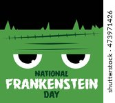 Happy Frankenstein Day Vector...