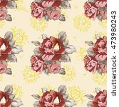 seamless floral pattern with... | Shutterstock .eps vector #473980243