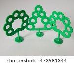 three plastic tree on a white... | Shutterstock . vector #473981344