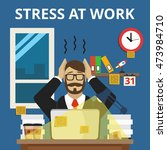 stress situation on work.... | Shutterstock .eps vector #473984710