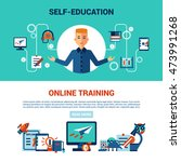 online education horizontal... | Shutterstock . vector #473991268