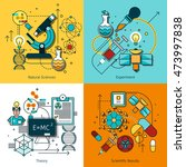 science concept line icons set... | Shutterstock . vector #473997838