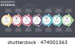 timeline vector infographic.... | Shutterstock .eps vector #474001363