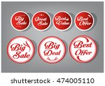 vector label  tag  sticker of... | Shutterstock .eps vector #474005110