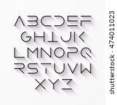 thin line style modern font... | Shutterstock .eps vector #474011023