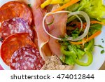 Small photo of French charcuterie and salad plate