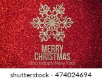ribbon with snowflakes  paper... | Shutterstock . vector #474024694