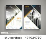 flyer or cover design with... | Shutterstock .eps vector #474024790