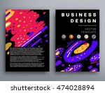 annual report brochure template ... | Shutterstock .eps vector #474028894