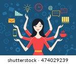 flat design vector illustration ... | Shutterstock .eps vector #474029239