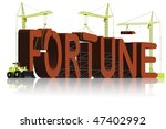 fortune building get rich earn money win lottery or get gamble chance at casino be a winner with luck - stock photo