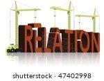building relation - stock photo