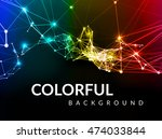 abstract network connection... | Shutterstock .eps vector #474033844