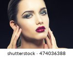 beauty fashion portrait of... | Shutterstock . vector #474036388