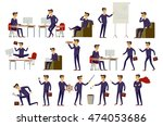 young cartoon businessman in... | Shutterstock . vector #474053686