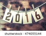 "the word ""2016"" stamped on... 