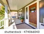 front covered porch with... | Shutterstock . vector #474066043