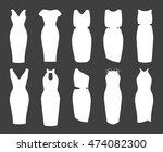 pencil dresses icon set.... | Shutterstock .eps vector #474082300