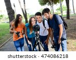 group of young photography... | Shutterstock . vector #474086218